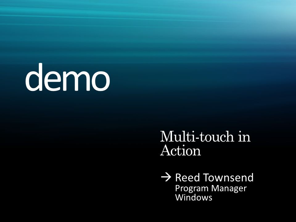  Reed Townsend Program Manager Windows