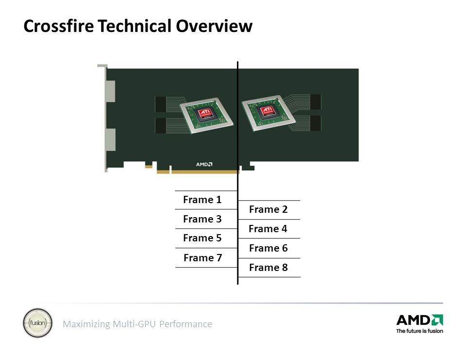 Maximizing Multi-GPU Performance Crossfire Technical Overview Frame 1 Frame 3 Frame 5 Frame 7 Frame 2 Frame 4 Frame 6 Frame 8