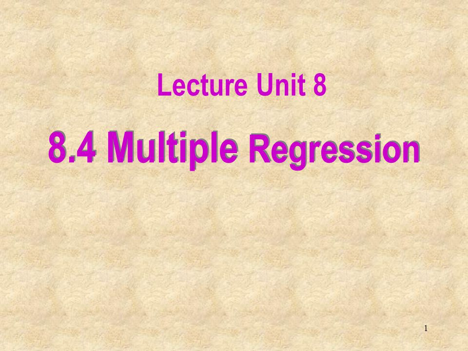 22 We pose the question: Is there at least one explanatory variable linearly related to the response variable.