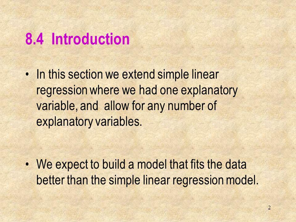 13 This is the sample regression equation (sometimes called the prediction equation) This is the sample regression equation (sometimes called the prediction equation) Regression Analysis, Excel Output Final exam score = 0.0498 + 0.1002exam1 + 0.1541exam2 + 0.2960exam3 +0.1077hwtot