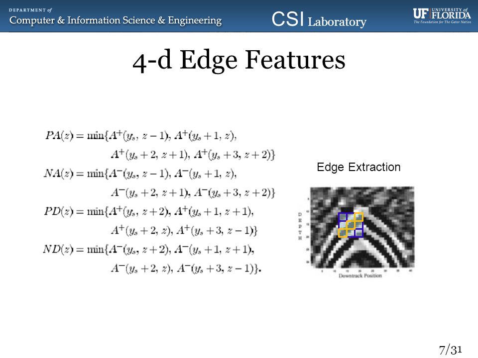 7/31 CSI Laboratory 2010 4-d Edge Features Edge Extraction