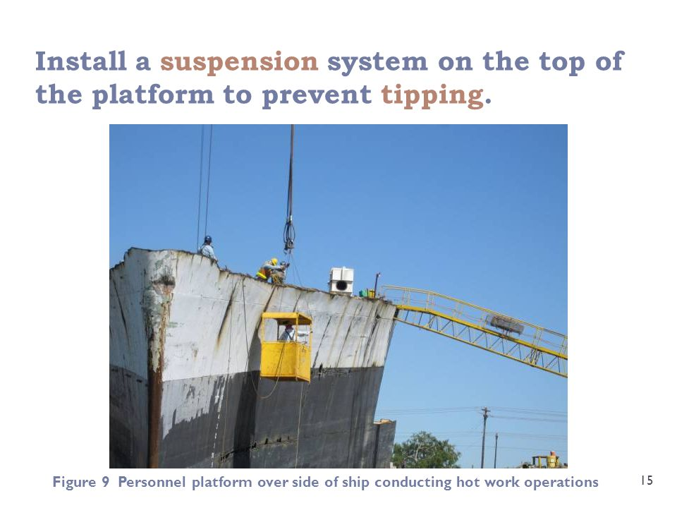 Install a suspension system on the top of the platform to prevent tipping.