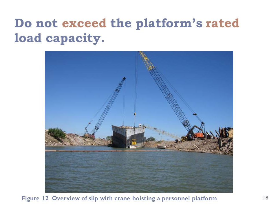 Do not exceed the platform's rated load capacity.