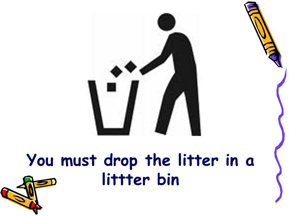 You must drop the litter in a littter bin