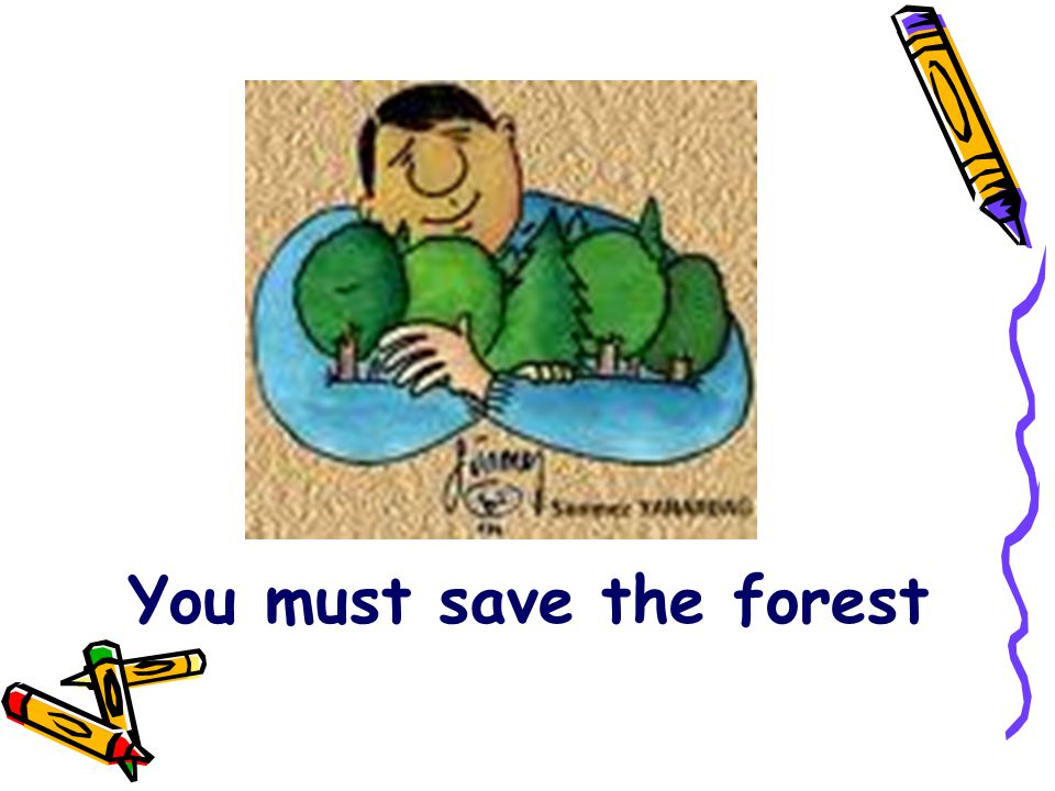 You must save the forest