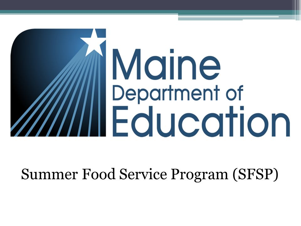 Summer Food Service Program (SFSP)