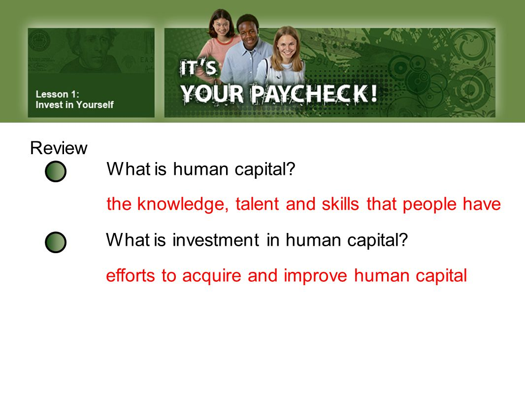 Review What is human capital.