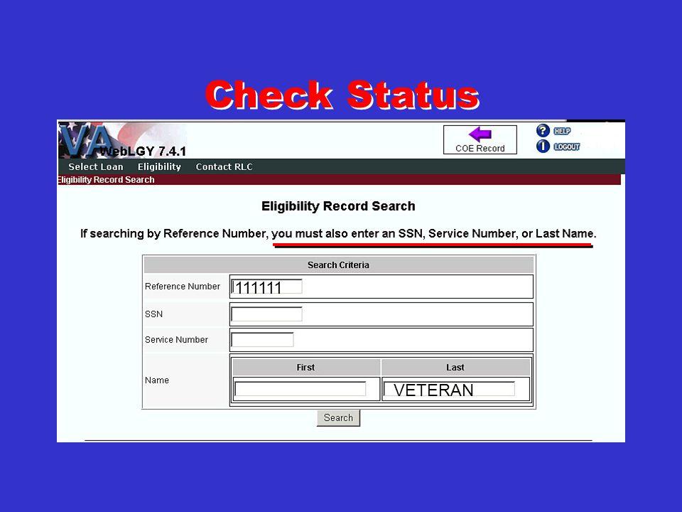 Check Status Check Status