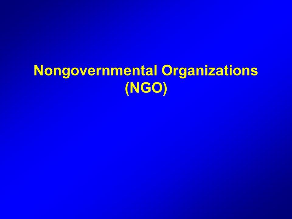 Nongovernmental Organizations (NGO)