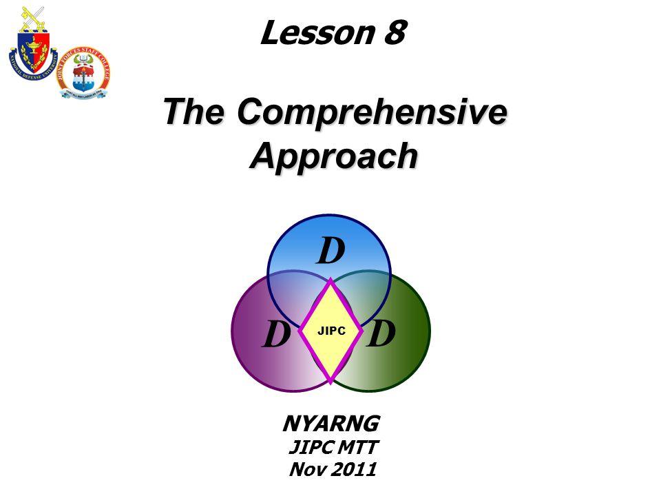 The Comprehensive Approach D D D JIPC Lesson 8 NYARNG JIPC MTT Nov 2011