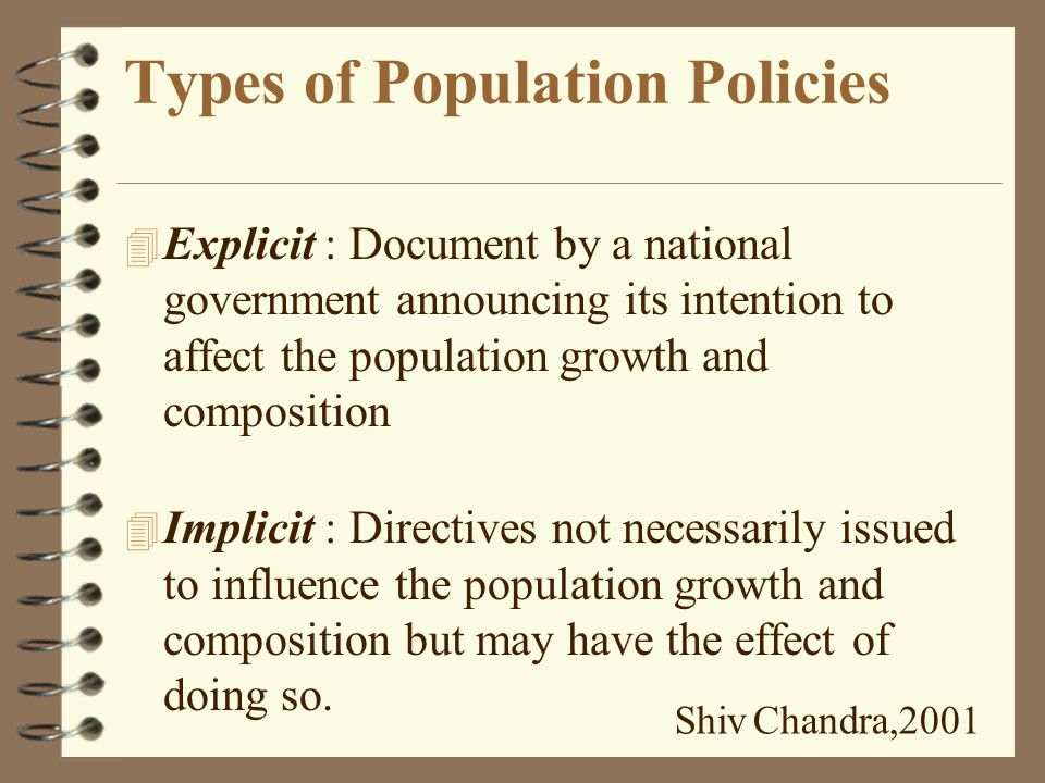 What is Population Policy.
