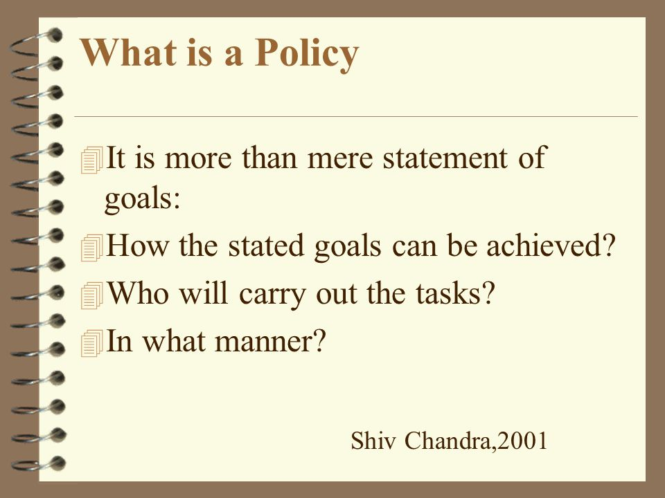 What is a Policy.