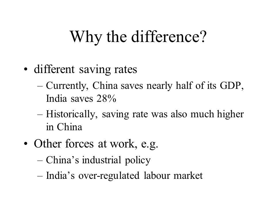 Result II: Development & Growth Saving rate rises with income level Saving rate rises with higher growth