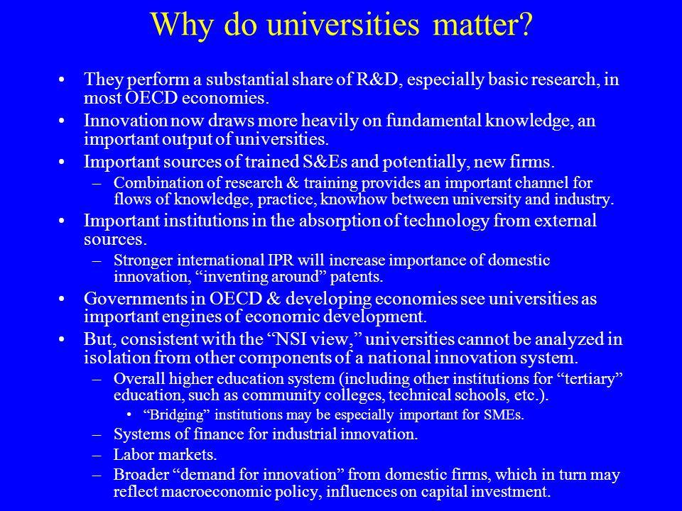 Why do universities matter.