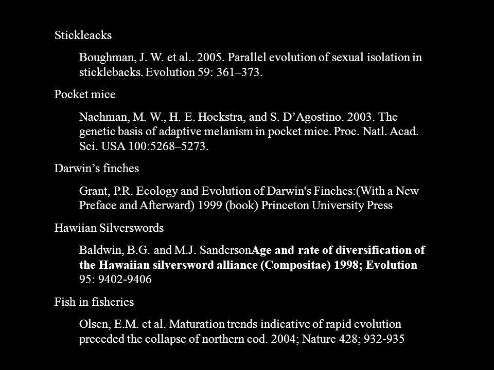 BIBLIOGRAPHY of further examples Antibiotic and antiviral resistance Davies J.