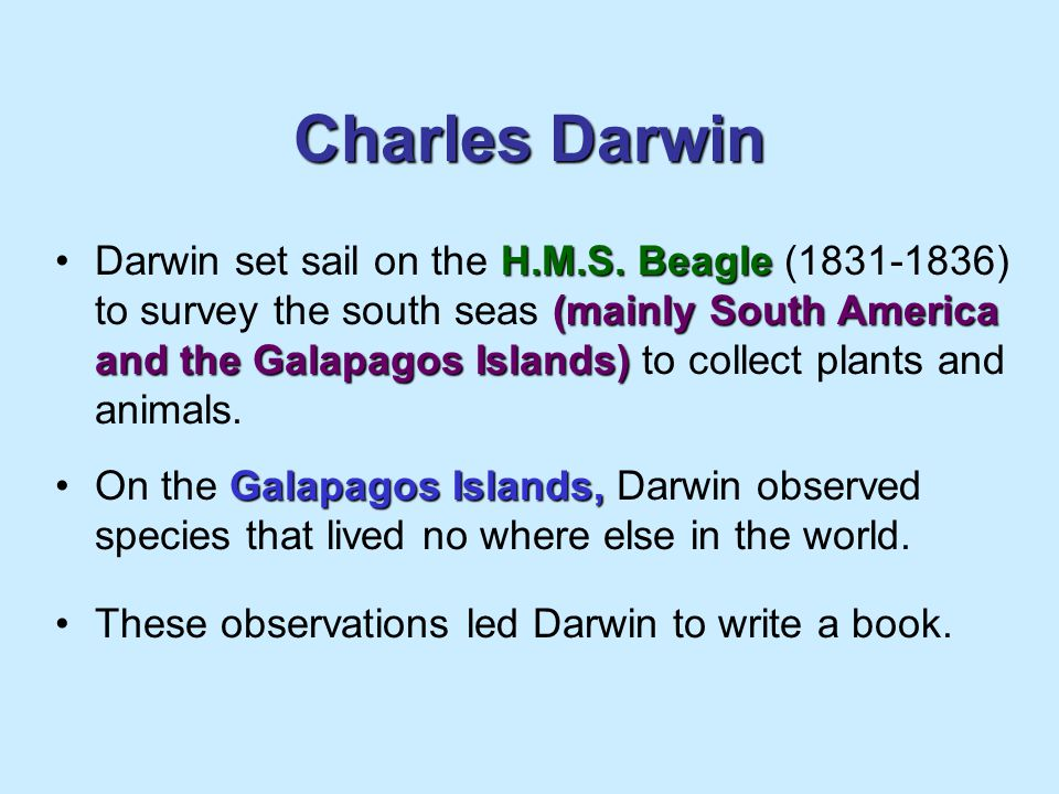 Charles Darwin H.M.S.