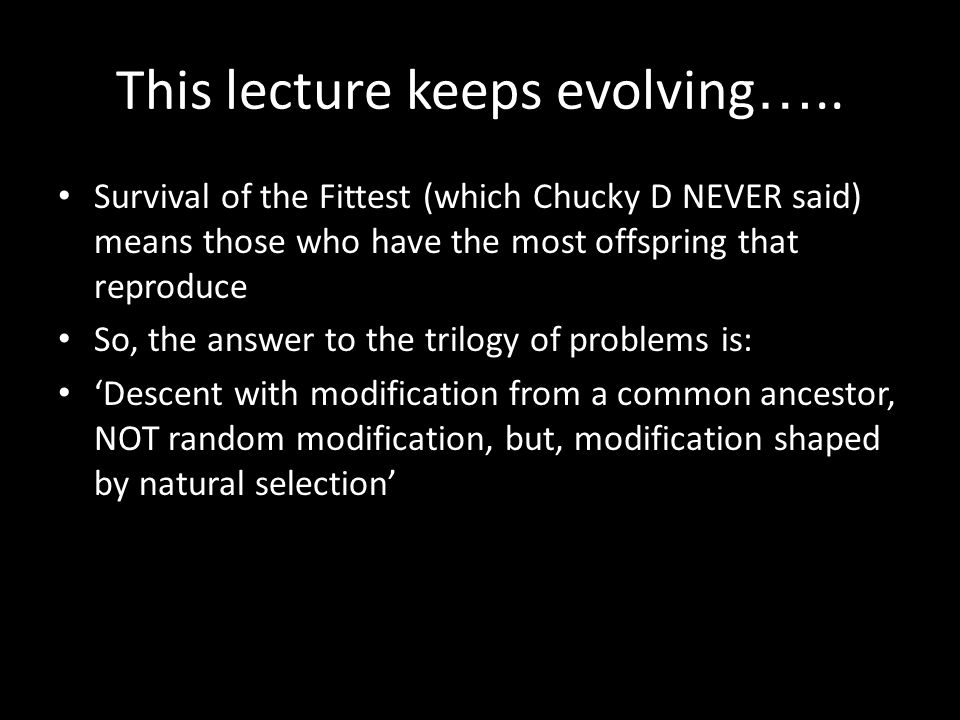 This lecture keeps evolving …..