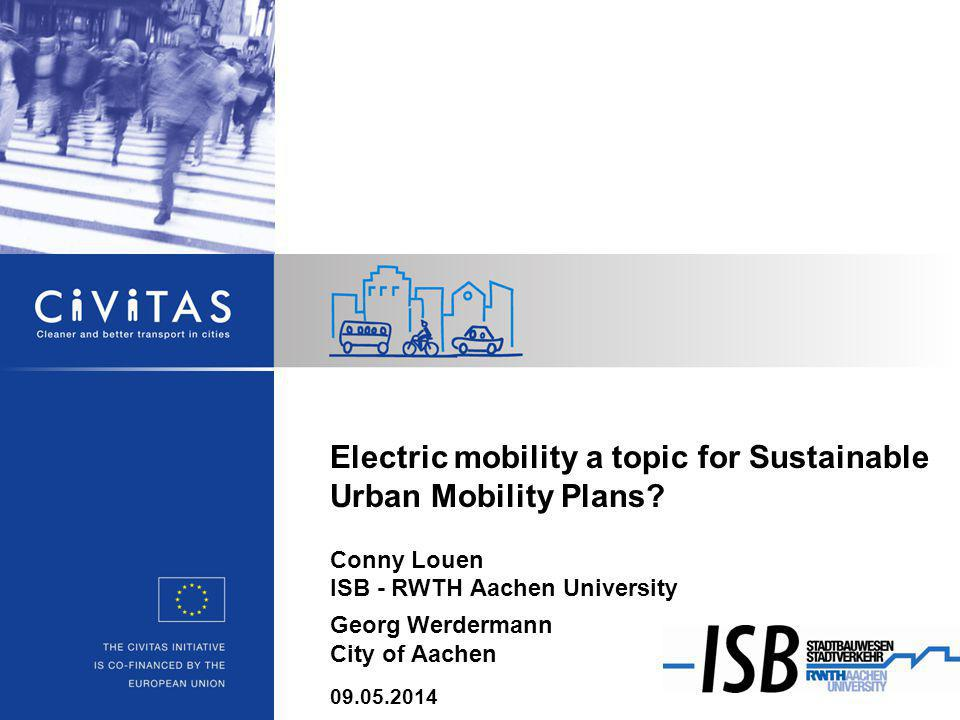 Electric mobility a topic for Sustainable Urban Mobility Plans.