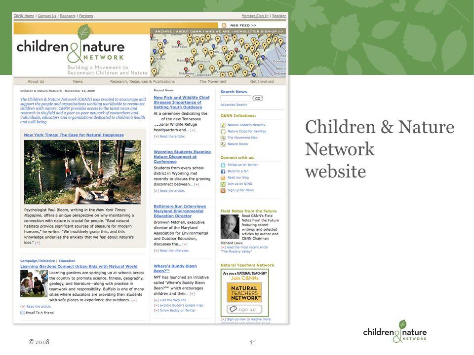 Children & Nature Network website © 2008 11