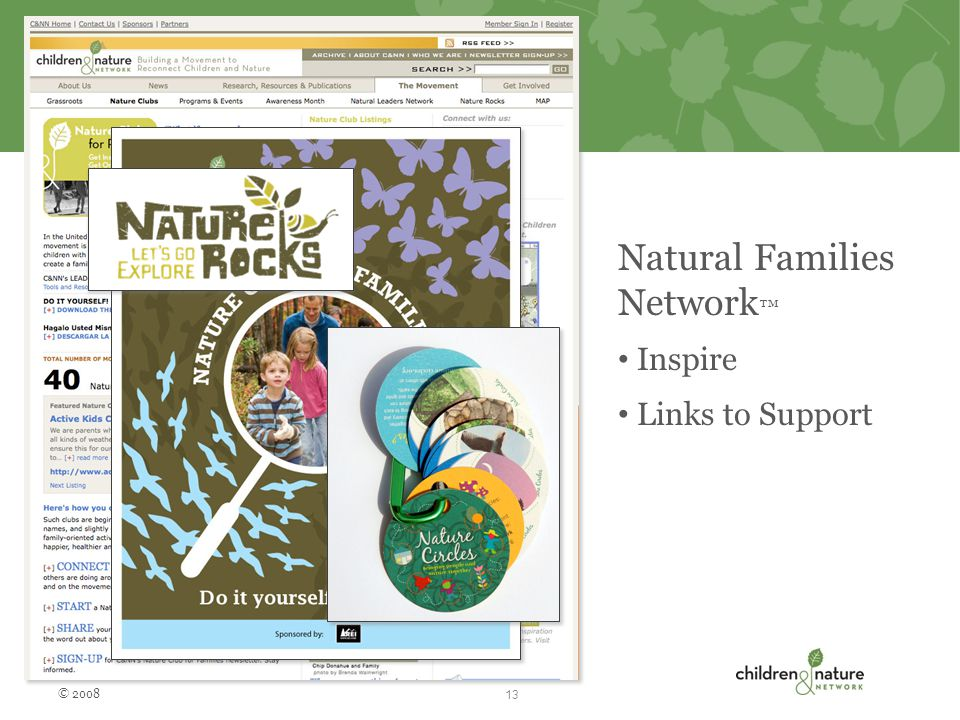 Natural Families Network ™ Inspire Links to Support © 2008 13