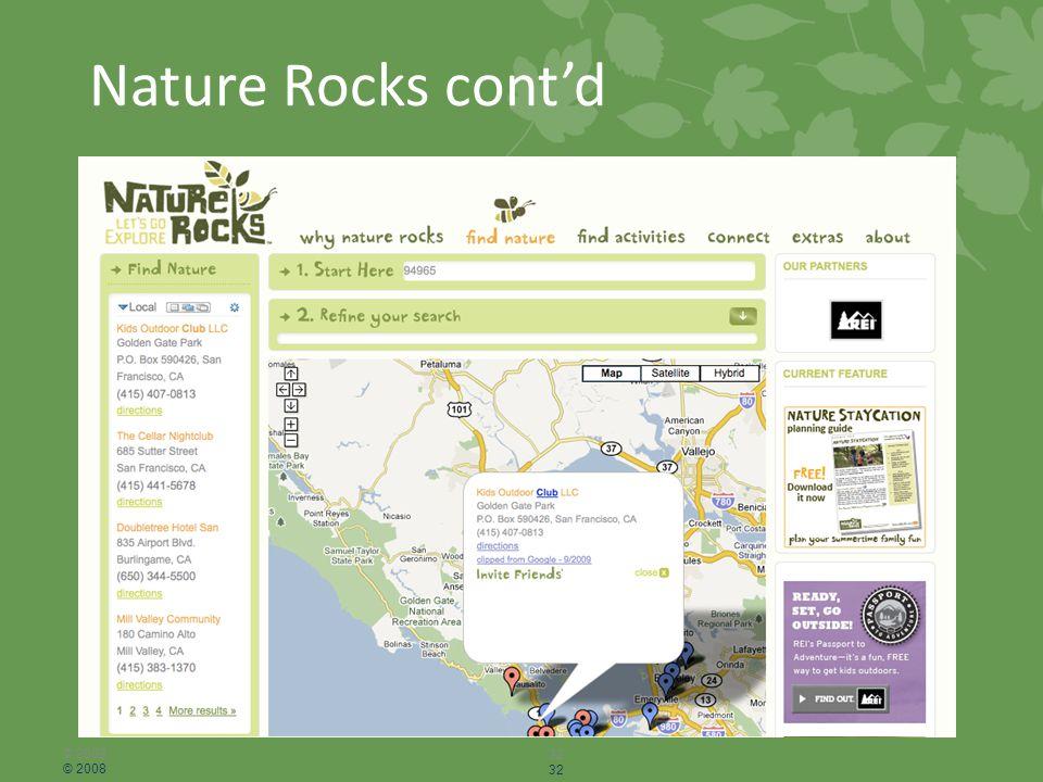 Nature Rocks cont'd © 2008 32 © 2008 32