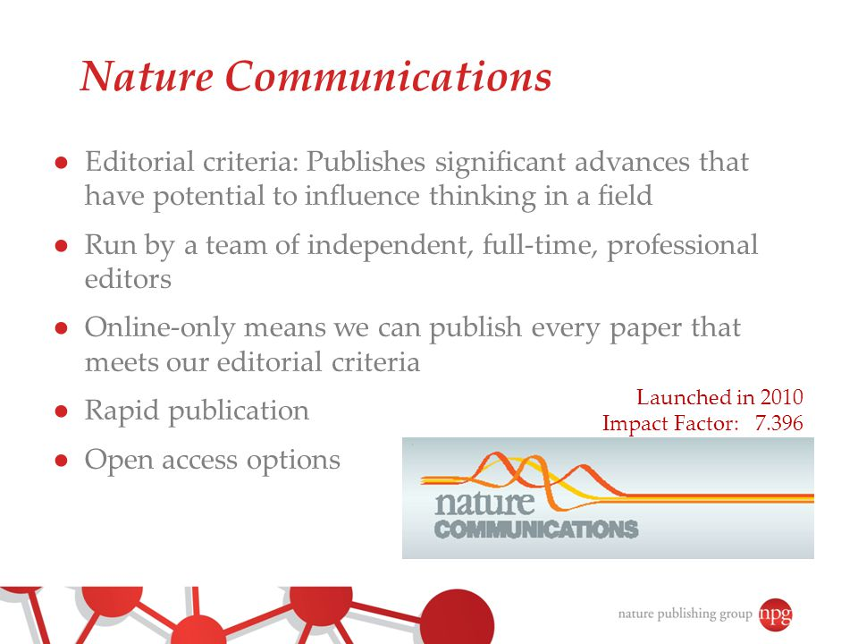 Nature Communications celebrates its 3 rd birthday.