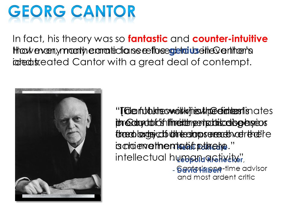 Cantor wanted to measure the size of sets.
