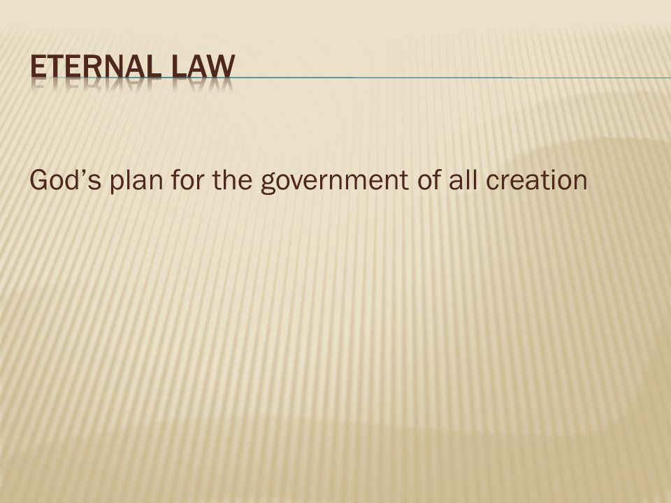 God's plan for the government of all creation