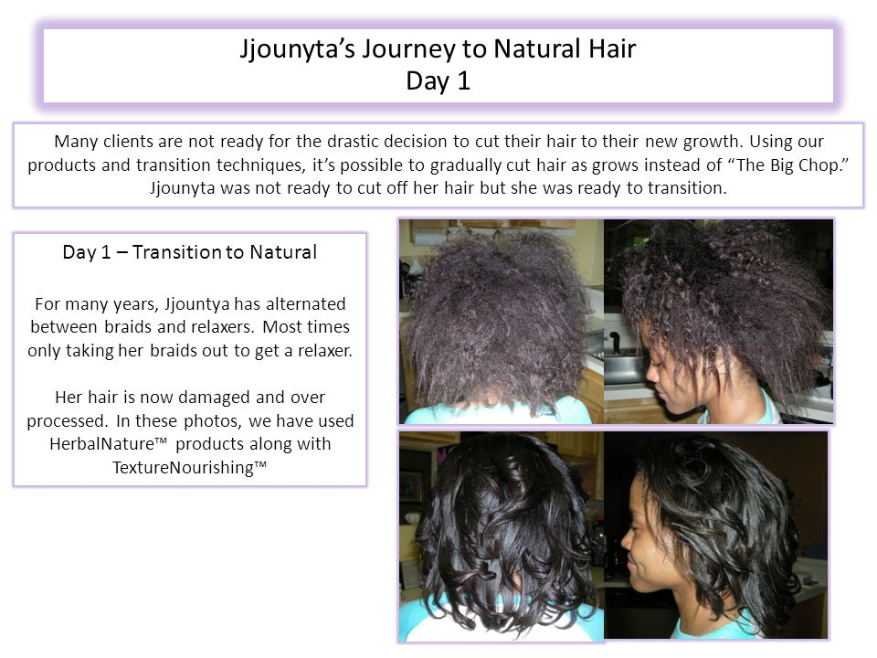 Many clients are not ready for the drastic decision to cut their hair to their new growth.