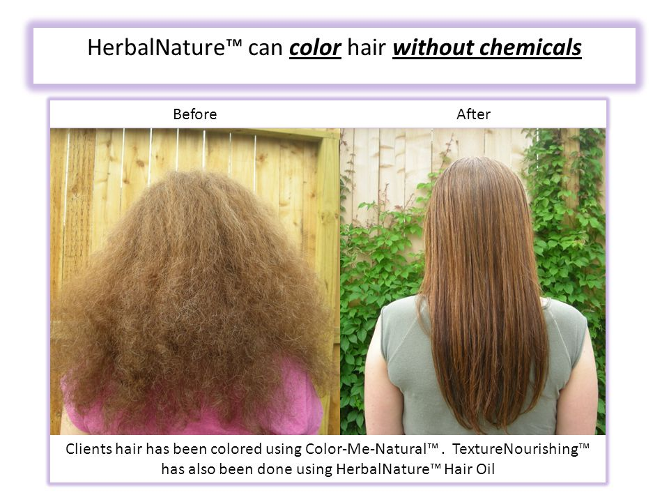 HerbalNature™ can color hair without chemicals