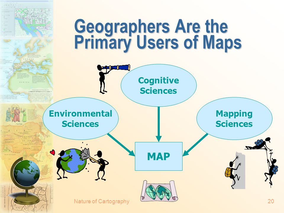Nature of Cartography19 A Cartographer Must...
