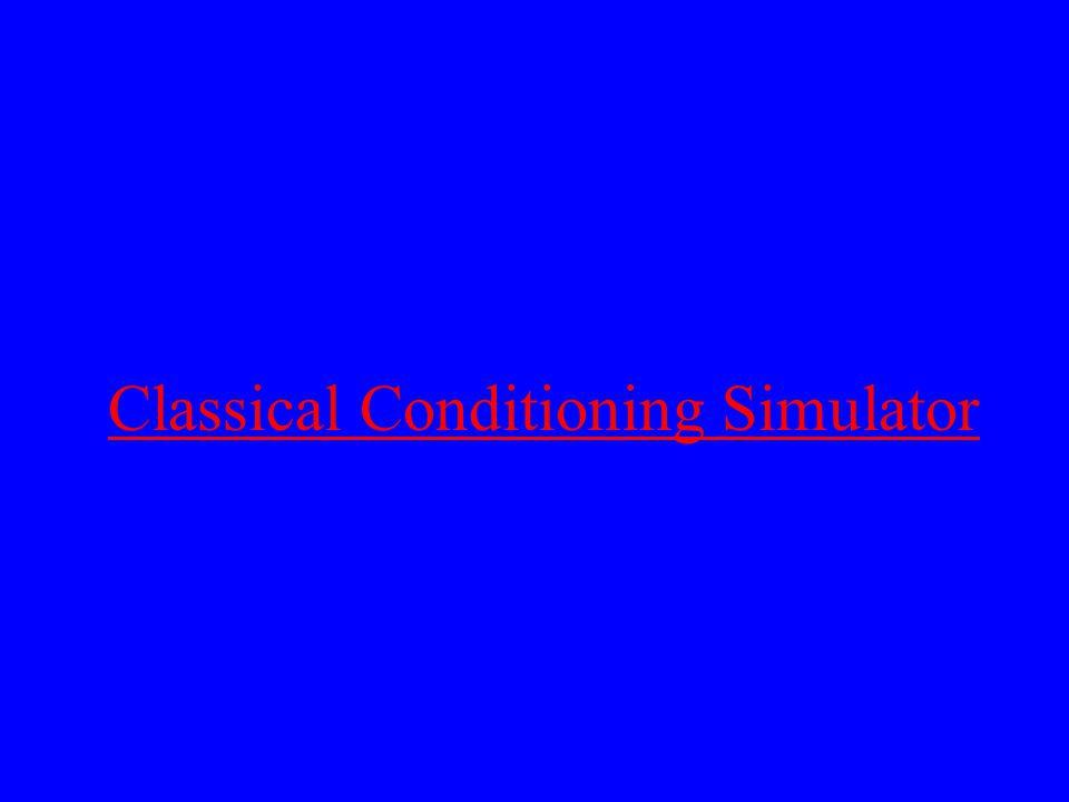 Classical Conditioning Simulator
