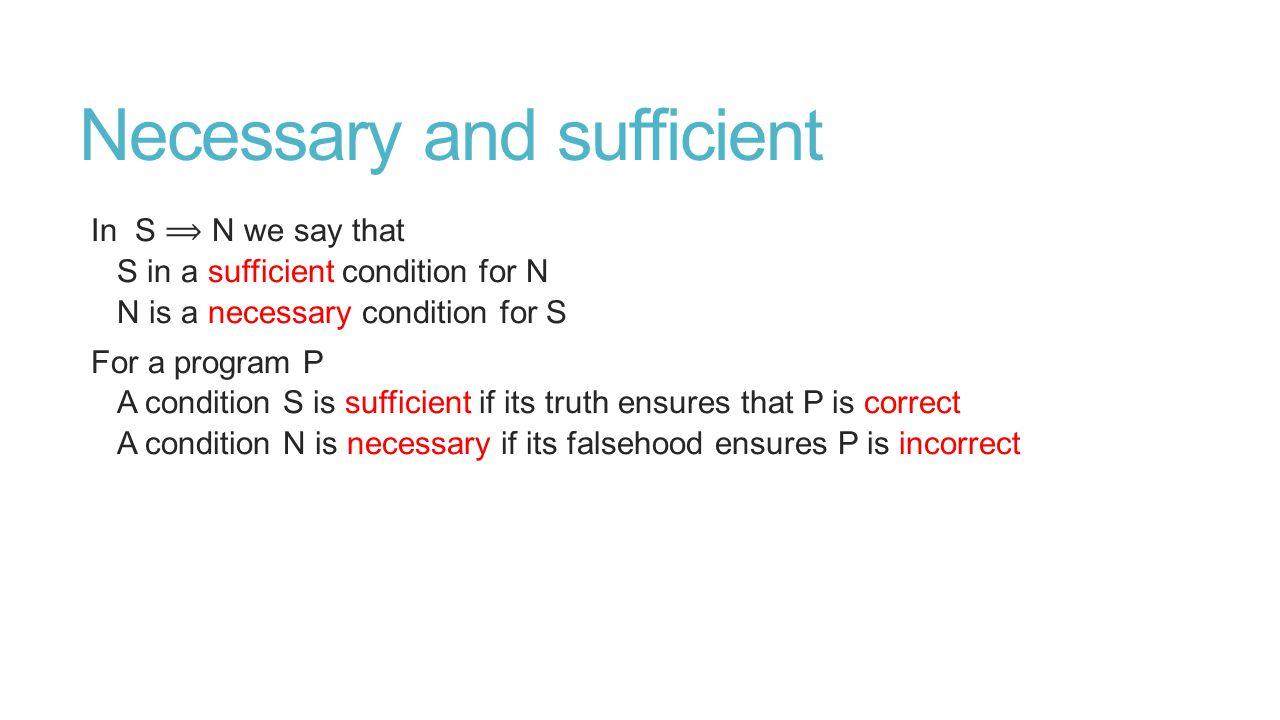 Sufficient Preconditions