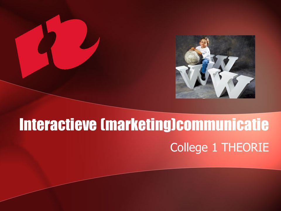 Interactieve (marketing)communicatie College 1 THEORIE