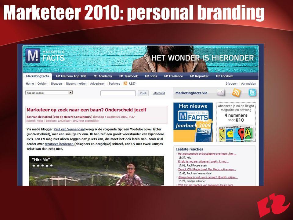 Marketeer 2010: personal branding