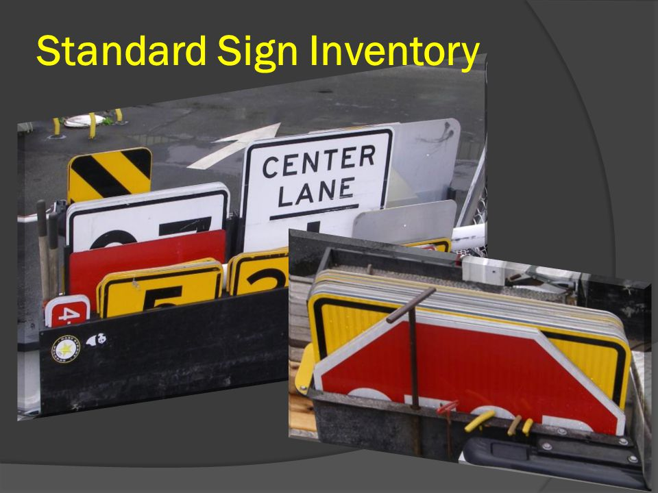 Standard Sign Inventory
