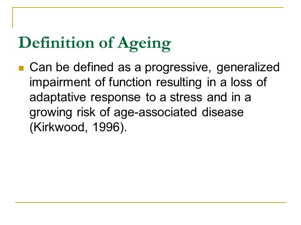 The Neuroendocrine Hypothesis Of Aging The neuron-endocrine system –complex system linking brain, nervous system and hormonal glands Becomes less functional with age- can lead to HBP, diabetes, and sleep abnormalities Effects of hormones on different facets of aging studied extensively Some late-life functional changes linked to reduced levels- e.g.