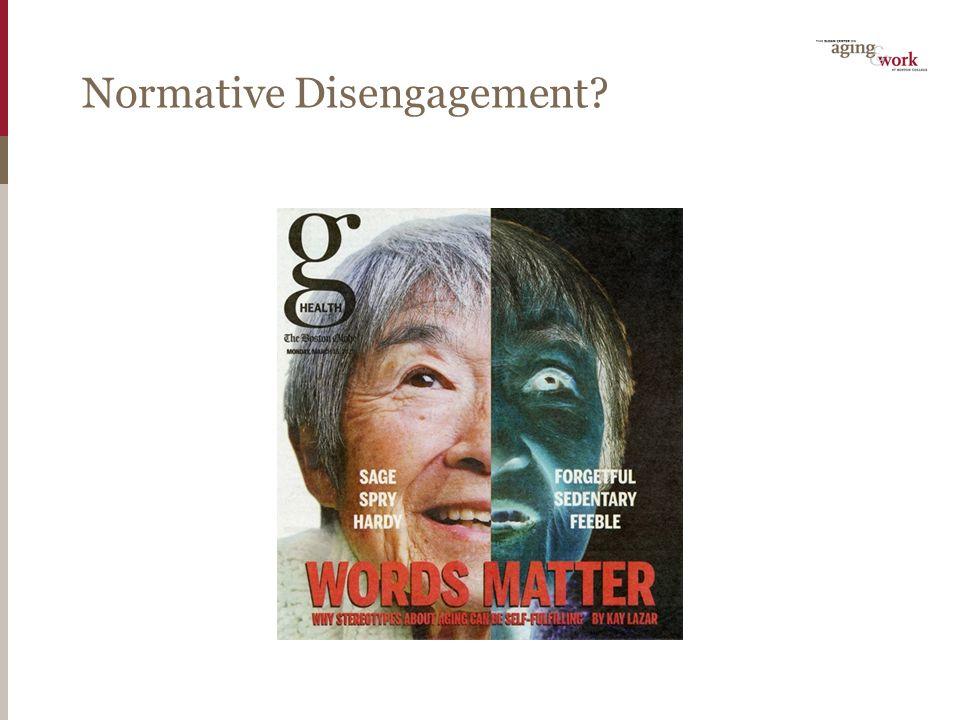 Normative Disengagement