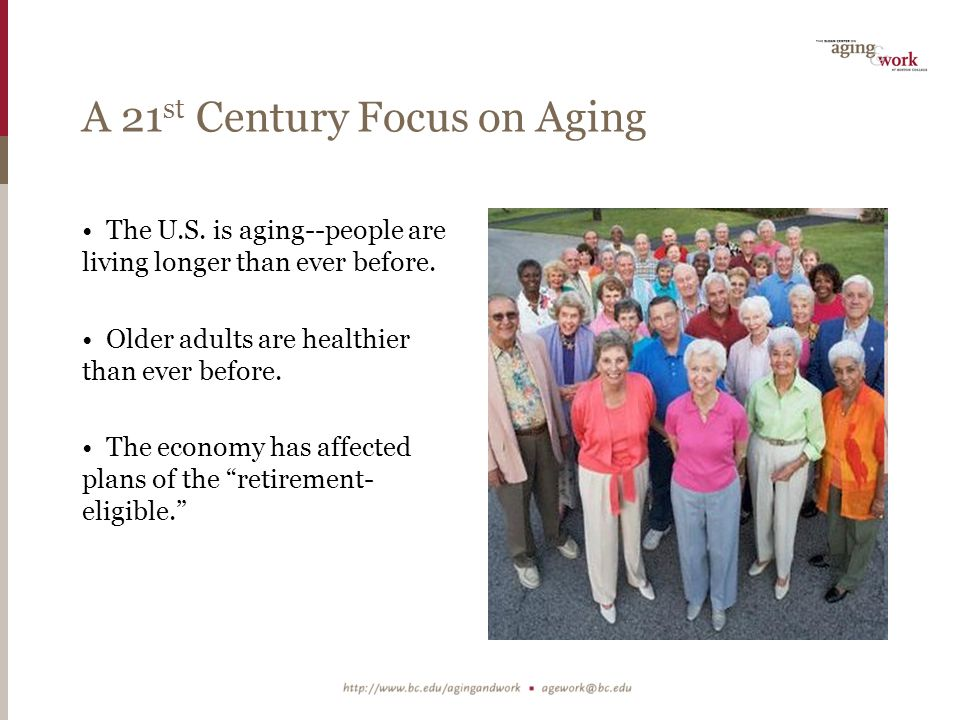Good News: Life Satisfaction by Age Group Source: Sloan Center on Aging & Work, 2010.