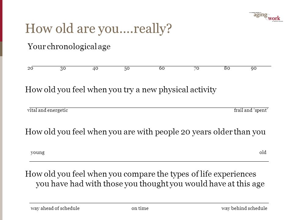 How old are you….really.