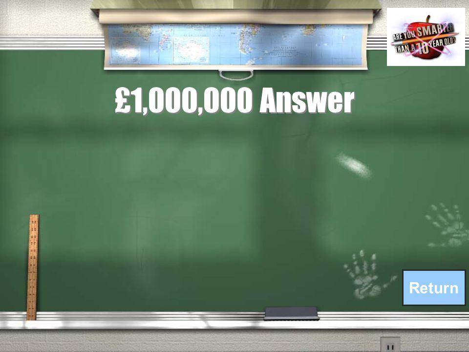 £1,000,000 Question