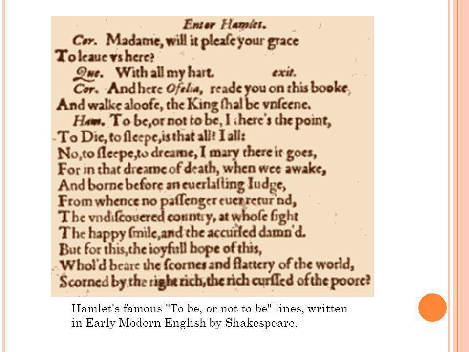 Hamlet's famous