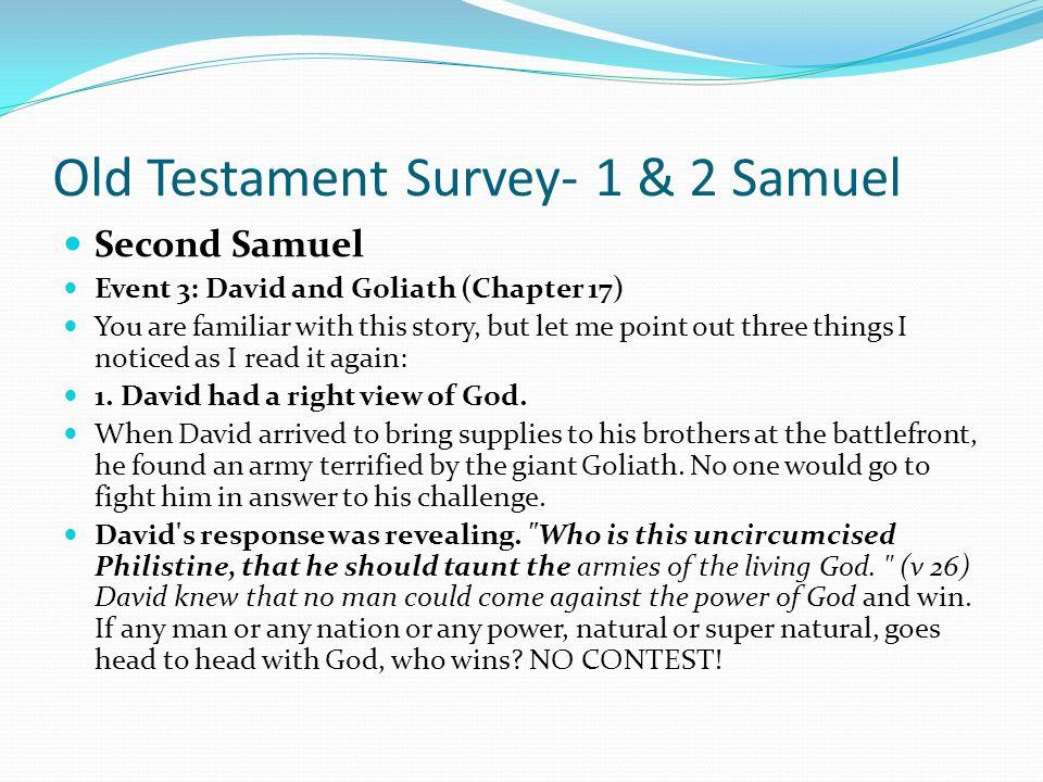 Old Testament Survey- 1 & 2 Samuel Second Samuel Event 2: David Serves Saul