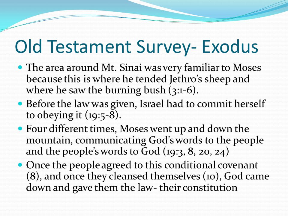Old Testament Survey- Exodus Rephidim was the fourth stop on the journey to Sinai. Here, God brought water out of a rock Joshua is mentioned for the f