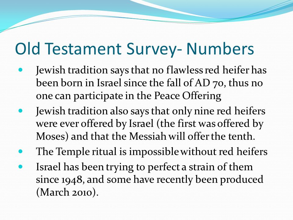 Old Testament Survey- Numbers This is followed by the Lord's choice of Aaron to be high priest and the Lord's choice of the Levites to be priests This