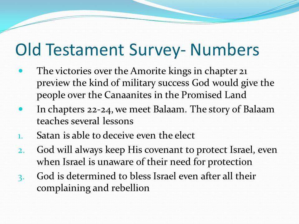 """Old Testament Survey- Numbers In chapter 21, the people call manna """"worthless bread."""" God punishes them with fiery serpents (the Hebrew word translate"""