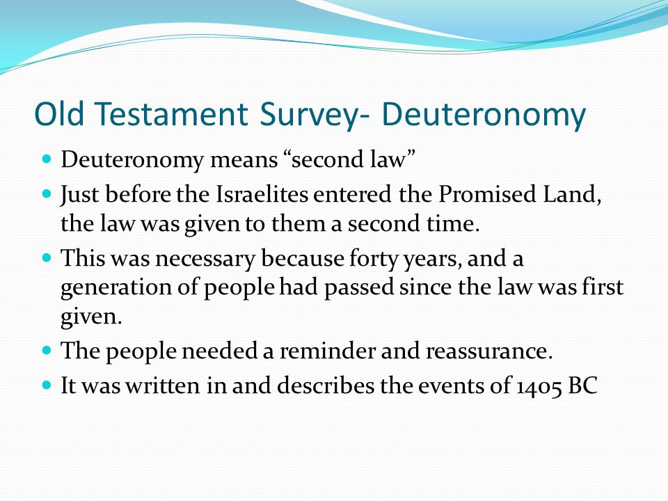 Old Testament Survey- Numbers God did not allow Balaam to curse Israel and ultimately executed him Balaam spoke of the coming of the Messiah- this may