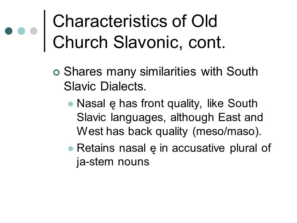 The Slavic Orthodox Churches Churches' origins tied closely to governments.
