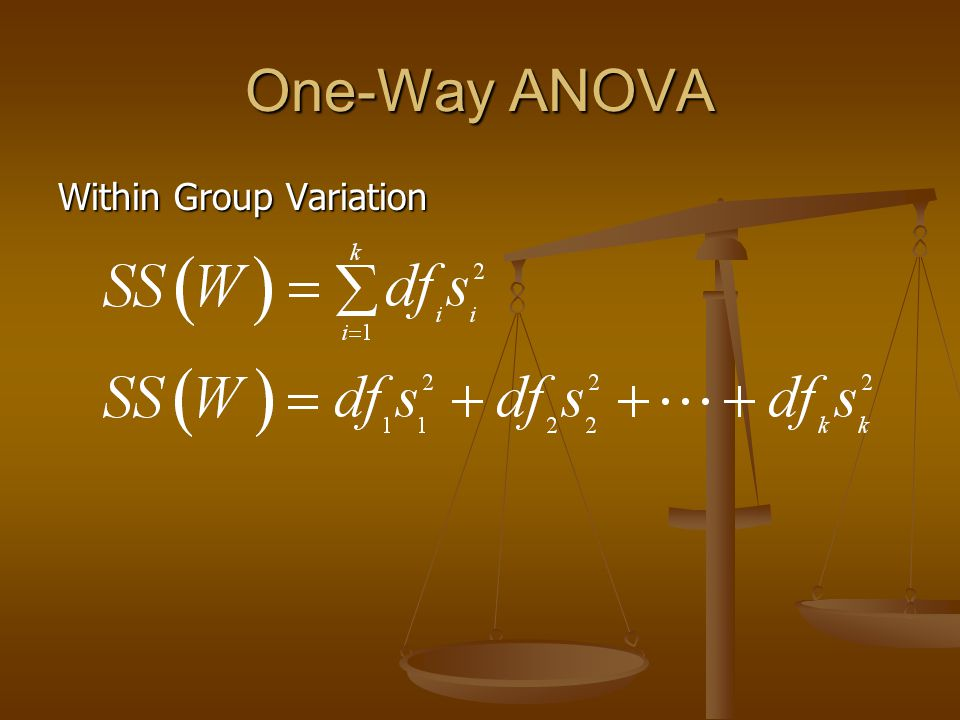 One-Way ANOVA Within Group Variation