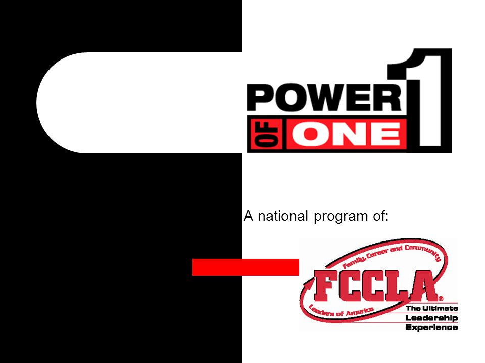 A national program of: